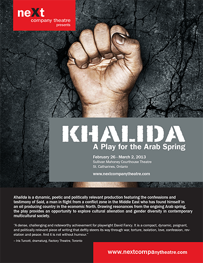 Khalida, Play by David Fancy